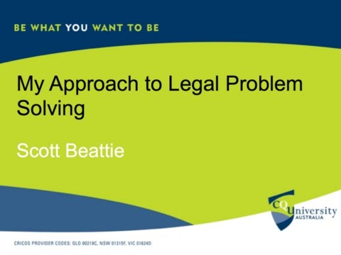 My approach to legal problem solving