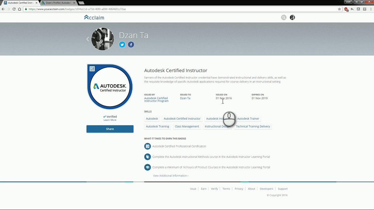 acclaim  autodesk badge issuance a how to guide