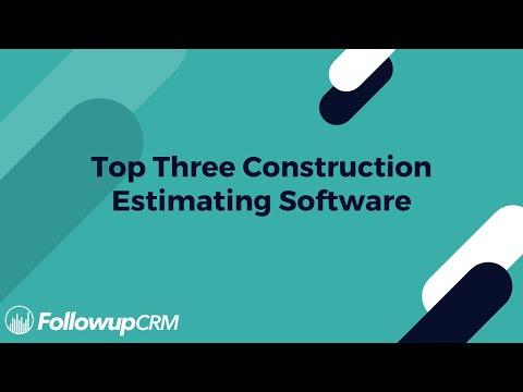 Top 3 Construction Estimating Software