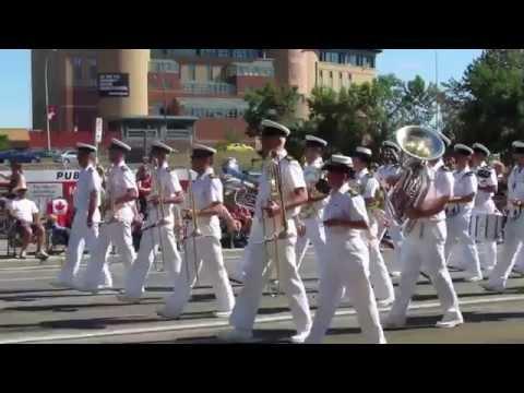 Calgary Stampede Parade, 2015 military bands.