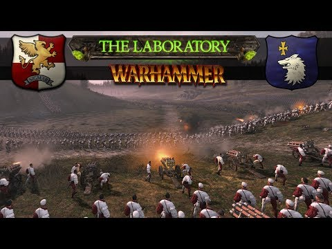 Total War: Warhammer 2 - Massive Pike and Shot Battle for the Mountain (The Laboratory)