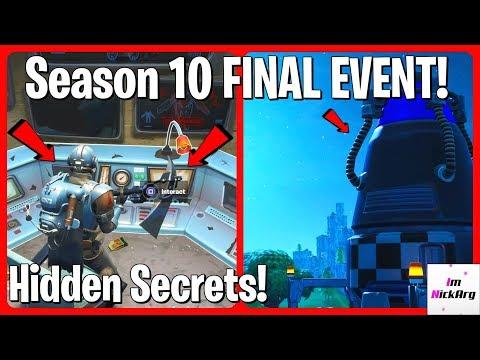 *NEW* Season 10 Final Event EASTER EGGS! (In Game Hidden Secrets) | Fortnite Season 11
