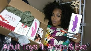 Adult Toy Haul Ft. Adam And Eve | Ages 18+