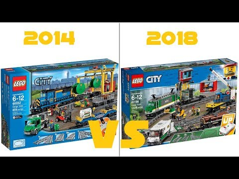 Lego City 60198 Freight Train Vs 60052 Cargo Train Hd Pictures