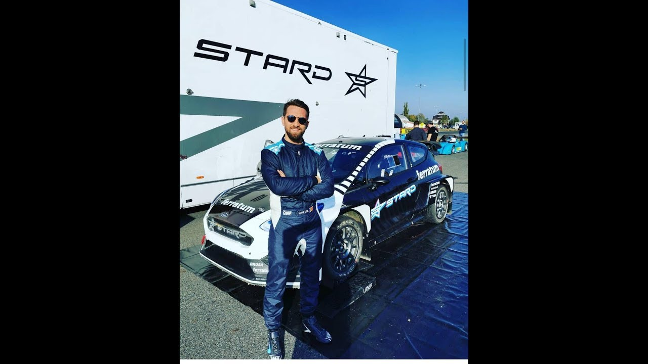 Prima masina electrica de rallycross in test drive la Titi Aur Romania - Ferratum & Stard