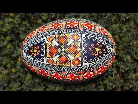 Learn How to Dye & Color Easter Eggs - Decorate Ukraine Ukrainian Pysanky Pysanka Intermediate Egg