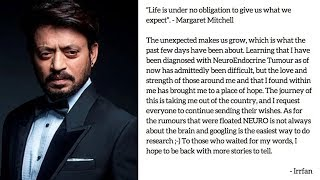Irrfan Khan suffering from Neuroendocrine Tumour