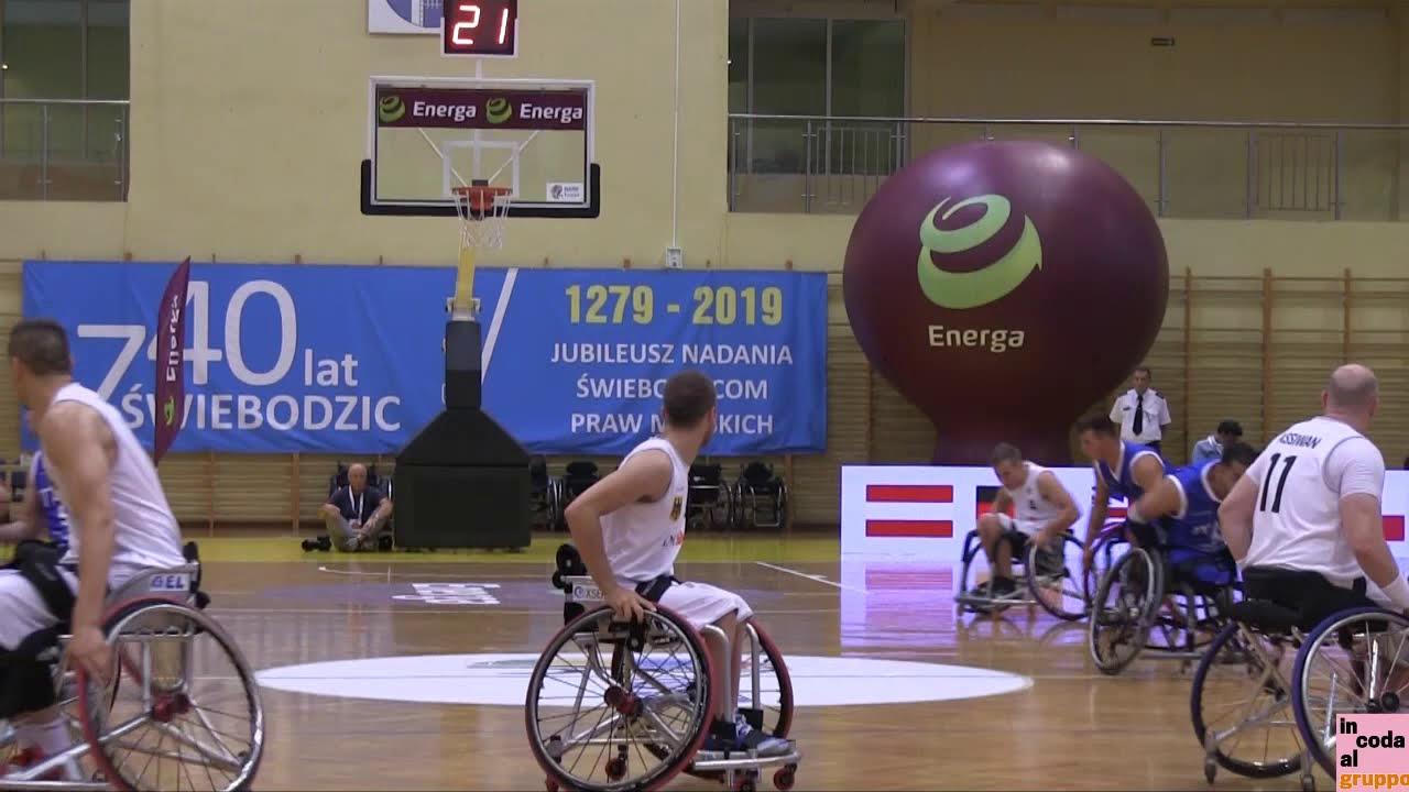 Europei di basket in carrozzina - HL di Germania - Italia 81-72