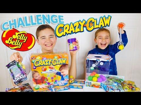 CRAZY CLAW CHALLENGE !!! SURPRISES ou JELLY BELLY  ? - Jeu de société Machine à Pinces