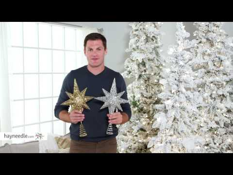 17 in. Glitter and Sequin Star Tree Topper - Product Review Video