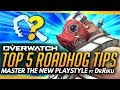 Overwatch | TOP 5 TIPS FOR ROADHOG - The Master Playstyle ft DrRiku