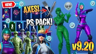 *NEW* All Fortnite v9.20 Leaked Skins & Emotes! (PS Pack, Wonder, Toy Soldiers, Extraterrestrial)