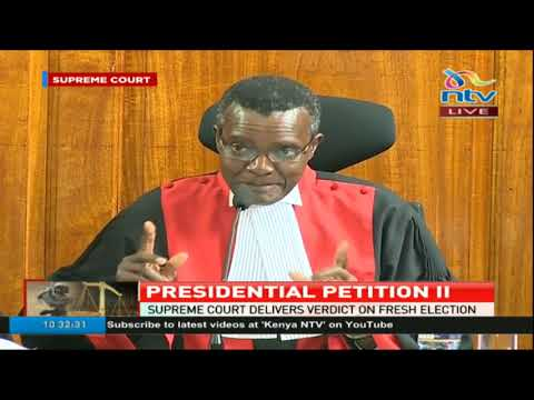 President Uhuru Kenyatta was validly  elected - Supreme Court of Kenya (SUMMARY JUDGEMENT)