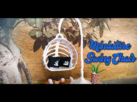 DIY | How to Make Miniature Swing Chair | Paper Mashe Clay