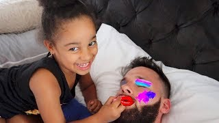 Makeup Prank on Sleeping Dad!