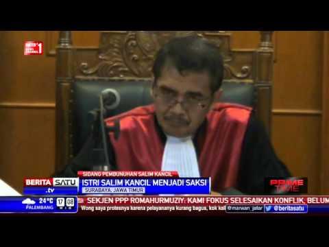 Istri Salim Kancil Bersaksi di Persidangan