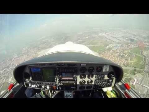 Landing Rwy18 Milano Bresso (LIMB) DA20 2.7K