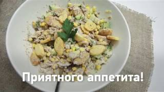 Быстрый рецепт: готовим простой рыбный салат