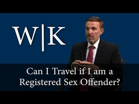Can a Registered Sex Offender Travel?