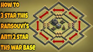 How to 3 star Ransouvi's popular anti 2 star Th9 war base using LavaLoon | Part 3 | Clash of Clans