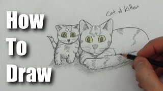 How To Draw a Cat with a Kitten