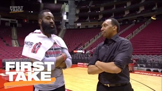 Stephen A. Smith Goes 1-on-1 With James Harden | First Take | February 14, 2017