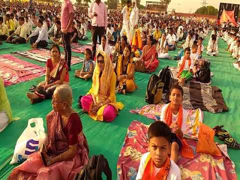 Ramdev Baba Ji Yoga In biharsharif, Yoga Shivir Performed By DAV Students