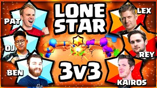 Brawl Stars: 3v3 Lone Star! |  Lex, Kairos u0026 Rey VS Orange Juice, Chief Pat u0026 BenTimm1