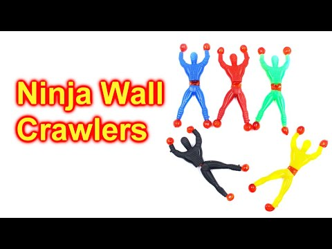 CRAZY Ninja Wall Crawler Toys Open and See Them Crawl The Wall