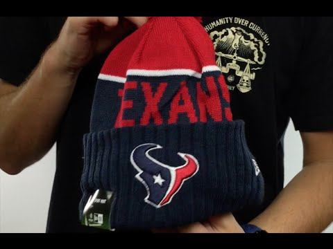ec52d88fc28 Texans  2015 STADIUM  Navy-Red Knit Beanie Hat by New Era - YouTube