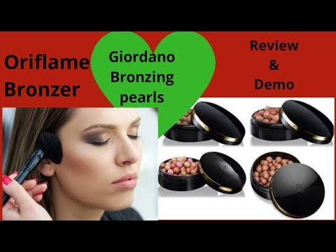 Review and Demo of Giordani pearls Bronzer by Oriflame |How to use Oriflame Giordani bronze pearls