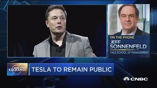 Sonnenfeld:  Elon Musk risks losing the confidence of Tesla constituents