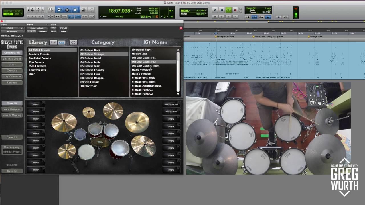 using the roland td 30 with slate ssd4 pt 2 zep drums youtube. Black Bedroom Furniture Sets. Home Design Ideas