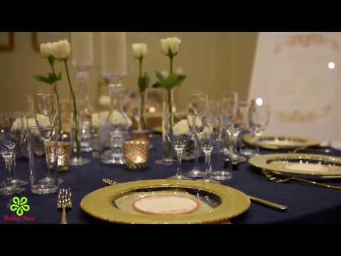 WEDDING DECORATIONS IDEAS || WEDDING CEREMONY DECORATIONS || NAVY AND GOLD WEDDING