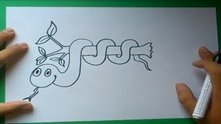 Como dibujar una serpiente paso a paso 4 | How to draw a snake 4