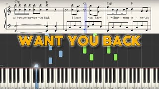"""Want You Back"" - Piano Tutorial + Sheet Music - 5 Seconds of Summer 
