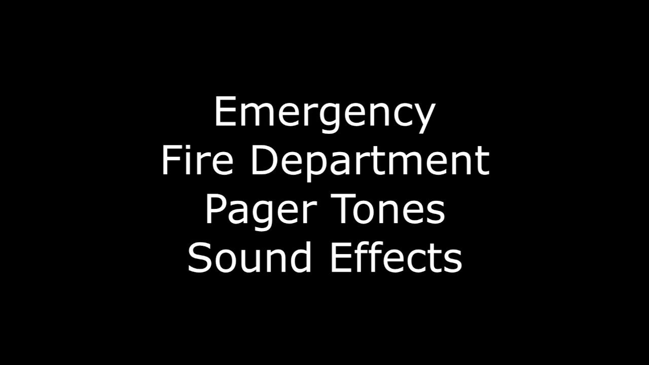 Emergency Fire Department Pager Tones Sound Effects