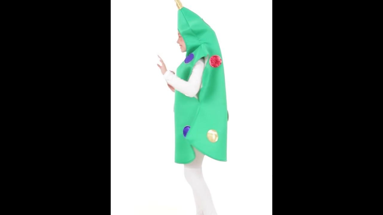 Disfraz de rbol de navidad infantil youtube - Disfraz de navidad ...