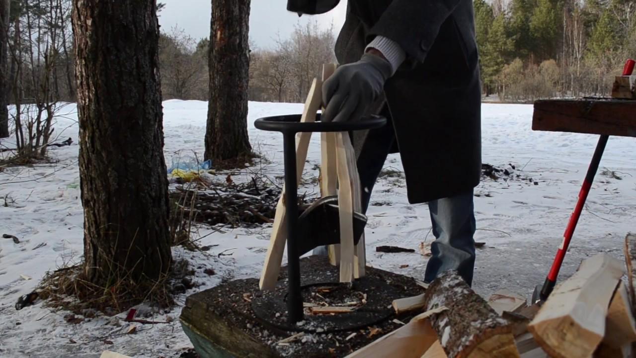 Ручной дровокол Kolundrov X4 - быстрый способ колки дров на 4 .