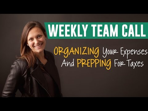 Organizing Your Expenses & Prepping for Taxes
