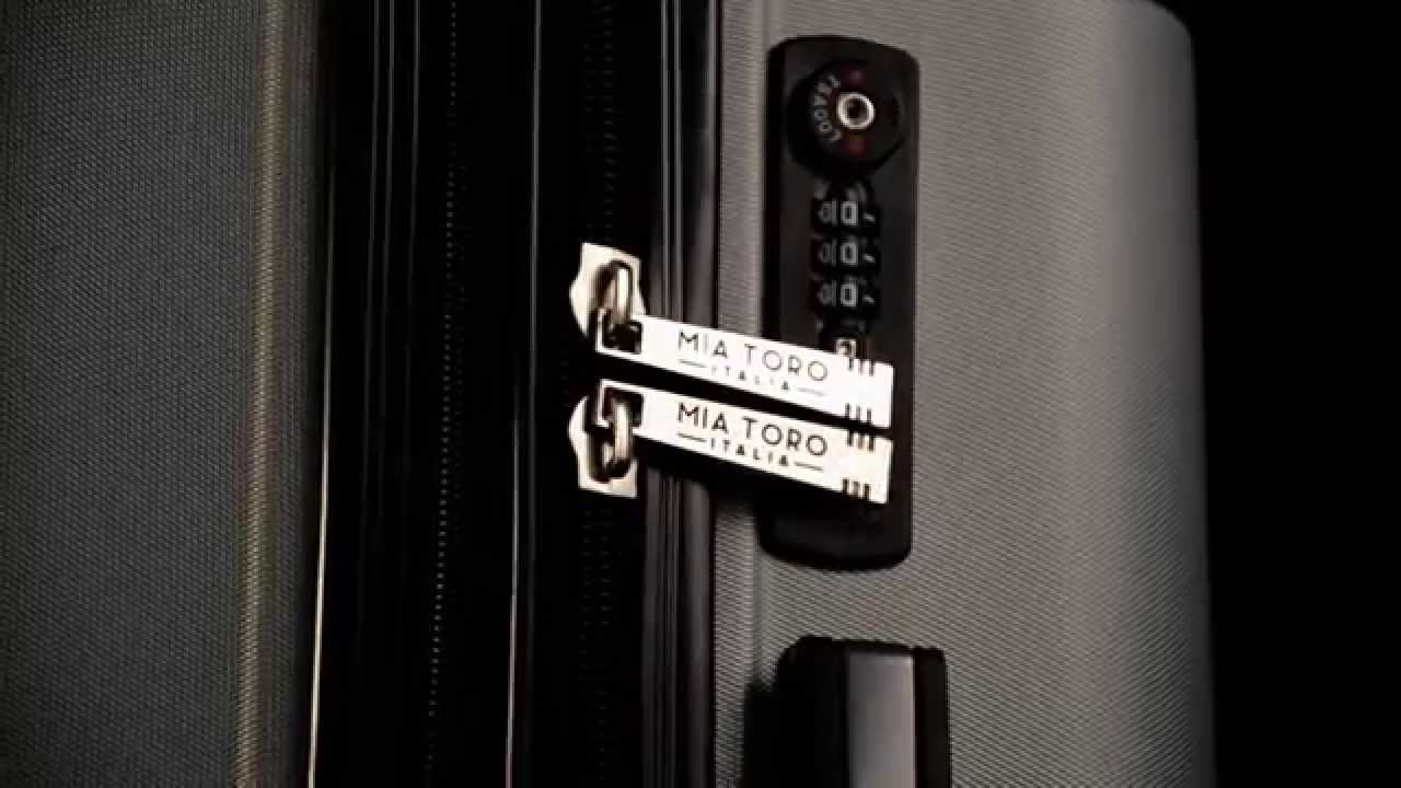 White Mia Toro Regale Composite Hardside Spinner 3 Piece Set One Size M1007-03PC-WHT