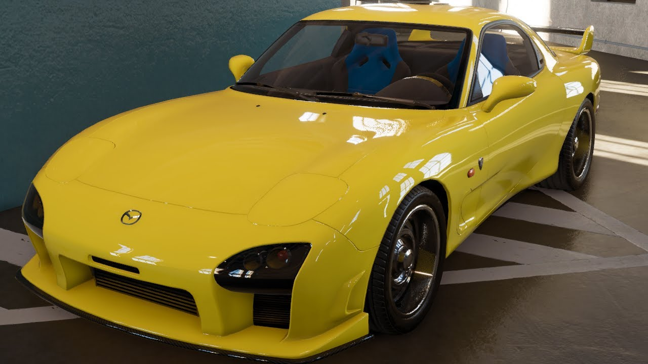 EUROBEAT INTENSIFIES!!!! Initial D Keisuke Takahashi Mazda FD- The Crew 2 Mazda RX7 custom build - YouTube