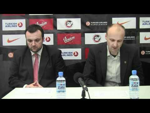 kosarka.si: Jure Zdovc in Mihailo Uvalin na novinarski konferenci (19.12. 2010)