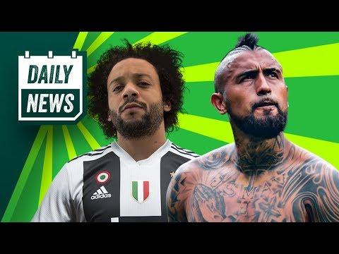 TRANSFER NEWS: Vidal to Barcelona + Marcelo to join Ronaldo at Juventus ► Daily Football News