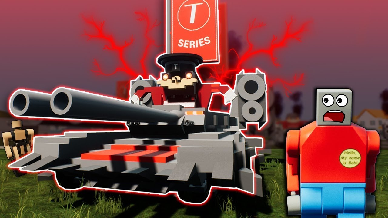 LEGO T-SERIES ARMY ATTACKS THE CITY! - Brick Rigs Roleplay Gameplay - Pewdiepie vs T Series