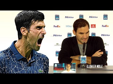 """Federer """"Djokovic is in the draw, I'm not thinking about the 100th title!"""" - ATP Finals 2018 (HD)"""