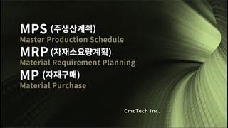 MPS(주생산계획), MRP(자재소요량계산), MP(자…