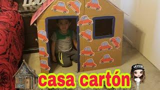 casa de cartón para niños J&Y