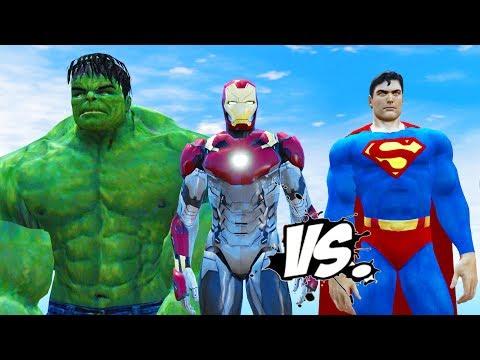 HULK & IRON MAN VS SUPERMAN - EPIC...