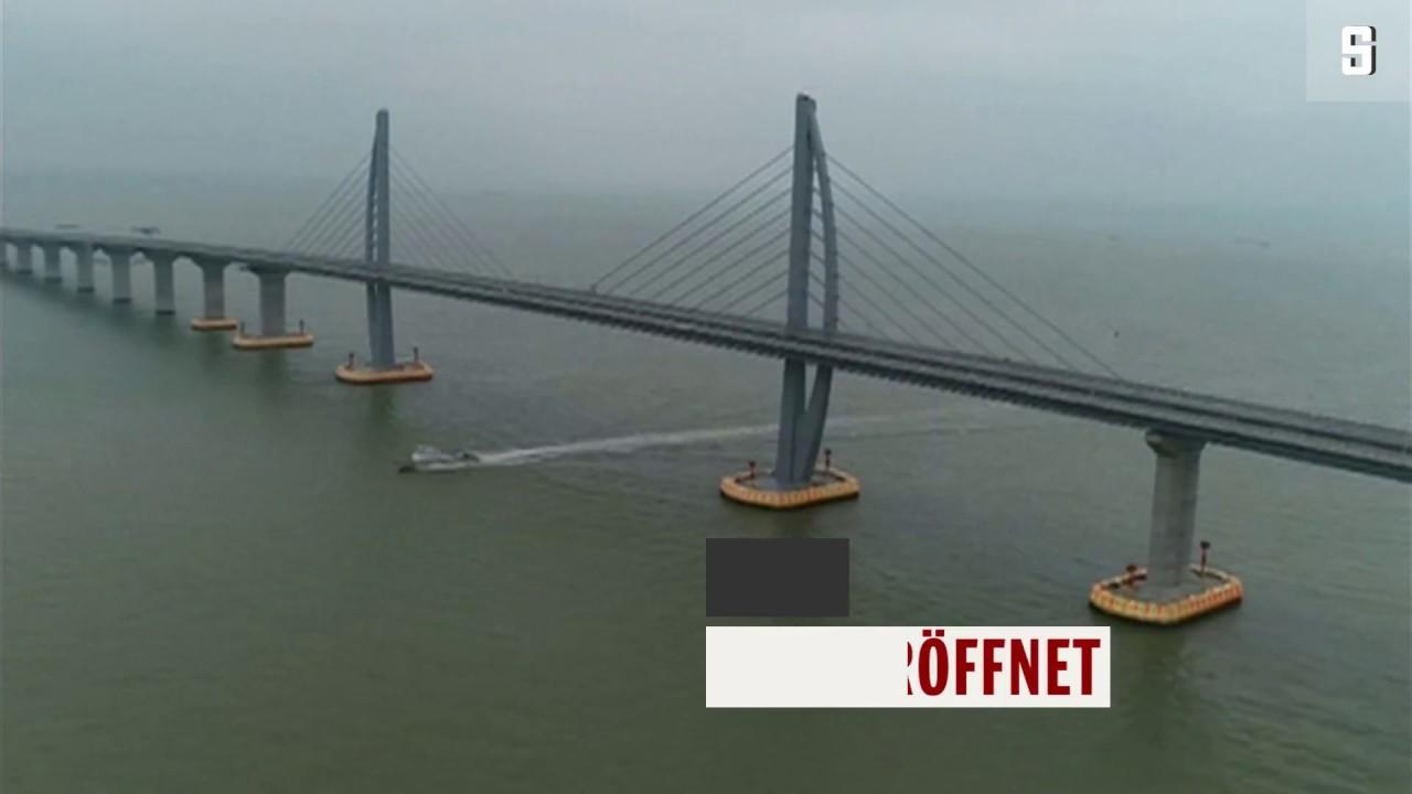 Längste Brücke Über Wasser Der Welt